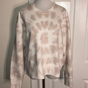 NWT Madewell Tie-Dye Cropped Neutral Sweatshirt XL